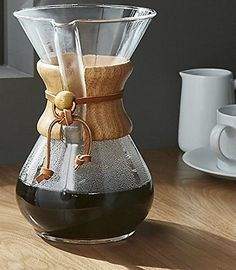 Chemex Classic Glass Coffee Maker with Foxgallery Guide, 6-Cup