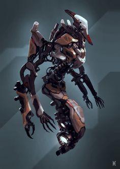 mutant reference (100% mekaanisia vihuja koitetaan välttää, mieluummin heitetään edes jokin orgaaninen osa designiin mm. torso tai pää tai jotain)