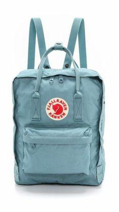 Fjallraven Kanken Backpack in Sky Blue Mochila Kanken, Backpack Purse, Adidas Backpack, Rucksack Bag, Cute Bags, Purses And Bags, Pouch, Shoe Bag, My Style