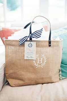 Fulham Personalized Canvas Tote Bag w/ Leather Straps | Bags ...