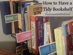Homeschool Organization: Keep Your Bookshelf Neat And Tidy