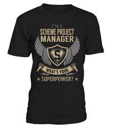 Scheme Project Manager Superpower Job Title T-Shirt #SchemeProjectManager