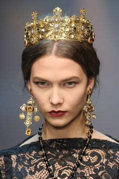 Karlie Kloss at Dolce and Gabbana RTW Fall 2013