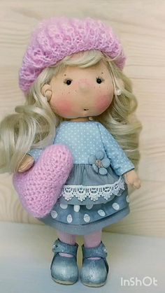 OOAK soft sculpture cloth art doll, Cute handmade cloth doll, Doll-clothes can be removed, Soft textile crafted dolls, Rag tilda puppe Handmade Dolls Patterns, Doll Shoe Patterns, Doll Patterns Free, Clothes Patterns, Dress Patterns, Free Pattern, Fabric Doll Pattern, Fabric Dolls, Rag Dolls