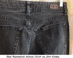 38485a23 Vintage LEE RIDER JEANS Overall Faded Black 30-Inch Waist 31-Inch Inseam 10  1/2-Inch Rise High Waist Boyfriend Camper Mom 99-Percent Cotton