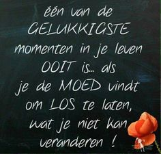 loslaten wat je niet kunt veranderen Happy Quotes, Best Quotes, Love Quotes, Inspirational Quotes, Dutch Words, Words Quotes, Sayings, Dutch Quotes, Messages
