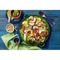 Chicken, prawn and mango salad recipe - By Australian Women's Weekly, Freshen things up with this delicious and wholesome chicken, prawn and mango salad. Packed full of flavour and crunch, this is sure to become a family favourite!