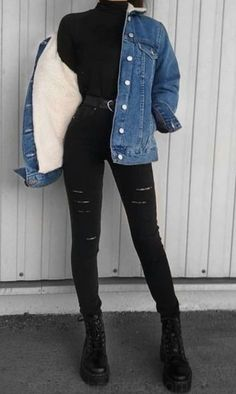 Winter Fashion Outfits, Edgy Outfits, Retro Outfits, Grunge Outfits, Cute Casual Outfits, Look Fashion, Fall Outfits, Edgy School Outfits, Trendy Black Outfits