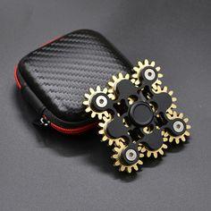 Crazy fidget spinner toy Hand Spinner Fidget Spinner brass 9 gears 10 bearings Turn 2 minute