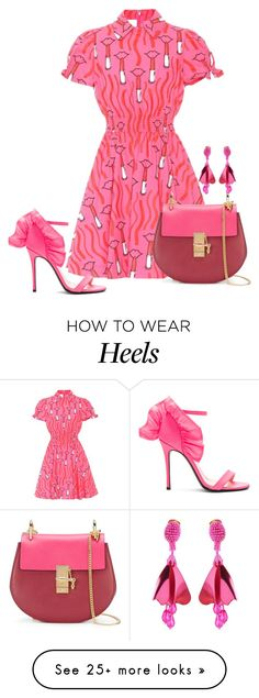 """Pack and go!"" by exoduss on Polyvore featuring Valentino, MSGM, Chloé and Oscar de la Renta"