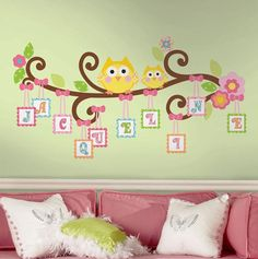 Personalized Owl Branch Wall Decal Win from @Ryan Saez form Nursery | Junior Ends Wed 4/24