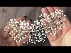 Diy Hair Accessories, Wedding Accessories, Wedding Jewelry, Handmade Wire Jewelry, Handmade Crafts, Diy Butterfly Decorations, Diy Tiara, Diy Beaded Rings, Diy Resin Art