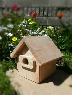 Redwood Bird House Outdoor Garden by FairyCrossingDesigns on Etsy
