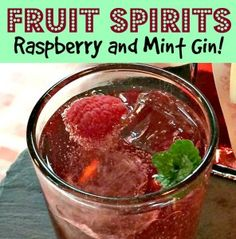 Raspberry and Mint Gin | Craft Invaders. Fruit Spirits are super easy, super yummy and make great presents - this is by far the most popular one I make, it really is delicious!