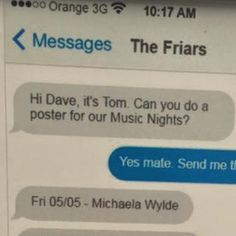 This is hilarious: In the UK, a fellow named Tom runs the Friars Inn, a pub in Bridgnorth. He asked his buddy Dave to help him with some design work. Here's what happened: This perfectly sums up why graphic design will always be easier than industrial design. (Yes it does.