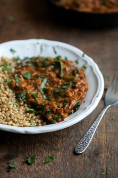 Red Lentils and Spinach in Masala Sauce | Naturally Ella
