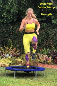 A 30 minute cardio and strength workout that will help you burn major calories and tone up with fun, high energy exercises. Trampoline exercise is a great wa. Effective Ab Workouts, Fun Workouts, Mini Trampoline Workout, Fitness Trampoline, 30 Min Cardio, Yoga Sport, Fitness Video, Workout Pictures, Fitness Workout For Women
