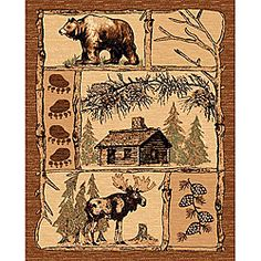 @Overstock - Bring lodge style to your home or office decor with this brown area rug. This lodge-themed rug features a moose, bear, and log cabin design in shades of brown. http://www.overstock.com/Home-Garden/Lodge-Design-362-Moose-Bear-Cabin-Brown-Area-Rug-5-x-7/6622825/product.html?CID=214117 $138.99