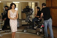 """OK, so I'm one of those waiting for this == Katharine McPhee and the camera crew rehearse """"Beautiful"""" Nbc Series, Katharine Mcphee, Broadway Theatre, Scorpion, Backstage, Behind The Scenes, Pop Culture, Pilot, Waiting"""