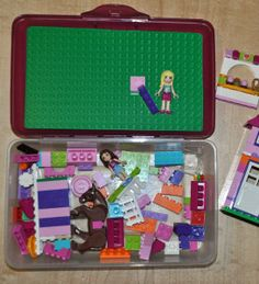 DIY travel lego case- perfect travel day activity