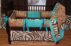 River Baby Bedding (I'd do cheetah instead of the paisley)