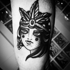 #girl #head #tattoo #ink #blacktattoos