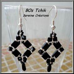 Tila. bead earrings