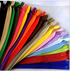 5-100pcs-Nylon-Invisible-Soft-tulle-Coil-Zippers-Sewing-11-16-22inch