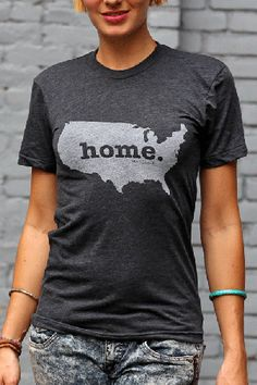 Rep Your Country ... GO USA - United States Home T-Shirt
