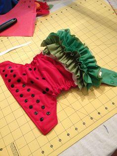 Watermelon Ruffle Butt Diaper - how cute is this?!