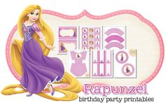 Rapunzel Free Printable Kit.