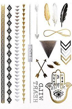 The Flash Metallic Flash Tattoos - The Laguna Room - 1 Fake Tattoos For Kids, Little Tattoos, Tattoos For Women, Moana Tattoos, Flash Tats, Hair Tattoos, Tatoos, Magic Symbols, Metal Tattoo