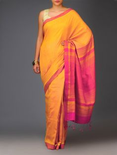 Polka Sequinned Handwoven Cotton-Silk Saree - Jaypore.com