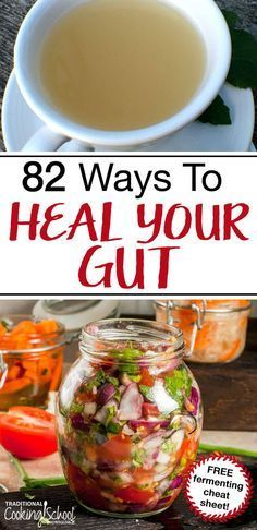 Gut health determines overall health. Learn 82 ways to heal your gut -- from fermented foods and bone broth to prebiotics and gut-healing diets and MORE! Gut Healing Diet, Healthy Tips, Healthy Recipes, Diet Recipes, Healthy Soup, Natural Food Recipes, Soup Recipes, Healthy Man, Healthy Quotes