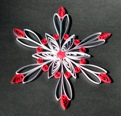 Handmade Quilled Snowflake Christmas Ornament by ScatteredPetals, $8.00