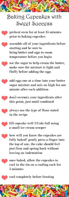 Here are some #cupcake #baking #tips!