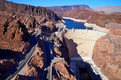 Hoover Dam, border between Arizona and Nevada
