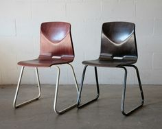 Industrial Bent Plywood Stacking School Chairs