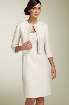 wedding dress for senior citizens | This one isn't your grandma's jacket and dress combo!