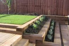 Výsledek obrázku pro železniční dřevěné pražce v zahradě