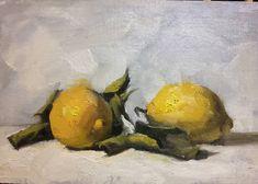 Scilian lemons to brighten up this grey February day!   #whenlifegivesyoulemonspaintthem #lemons #stilllife #allaprima #figurativeart #archiewardlaw #exhibition #gallery #art #huahua #kunst #fineart