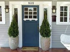 front door ideas- i like this blue