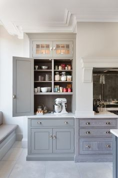 Ideas and expert tips on kitchen cabinet designs so you can create your own dream kitchen. See more ideas about Stoves, Kitchen remodeling and DIY hidden kitchen appliances. Kitchen Cabinet Design, Kitchen Redo, Kitchen Dining, Dining Area, Kitchen Cabinets With Glass Fronts, Kitchen Ideas, Ikea New Kitchen, Best Kitchen Layout, Kitchen Organization