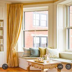 Cozy #windowseat nook in an elegant #boston #apartment #elegantedge #pillows #interiordesign #hamilburginteriors Photographed by @ericrothphoto #interiors #design by hamilburg_interiors
