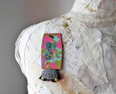 Contemporary paper brooch Scarf pin Unique by Elyseeart on Etsy