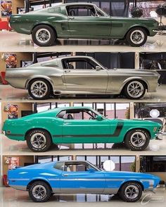 "The 1967 'Stang From ""Bullitt""; ""Eleanor"" (1967 GT - 500 ""Super - Snake""), 1970 ""Boss 302"", 1971 ""Boss 429""!!!..... ;)"