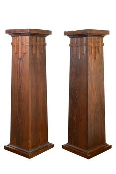 2 availableAA# 47562 These small Craftsman columns feature decorative latticework and simple lines. Craftsman Columns, Craftsman Trim, Craftsman Style Homes, Craftsman Bungalows, Craftsman Houses, Mission Furniture, Craftsman Furniture, Craftsman Interior, Craftsman Remodel