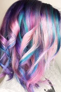 Bright Color Balayage for Shoulder Lenght Hair picture 2