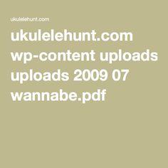 ukulelehunt.com wp-content uploads 2009 07 wannabe.pdf