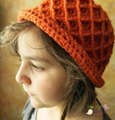 HodgePodge Crochet Presents: A Girl's Best Friend Diamond Pattern Hat